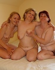 Three mature lesbians and a throbbing cock